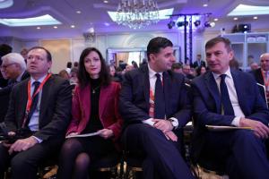 Roberto Viola, Mariya Gabriel, Alexandru Petrescu,and Andrus Ansip attending Digital Day 2019
